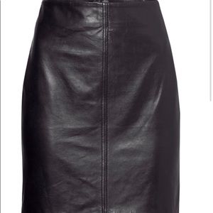 H&M Genuine Leather Skirt